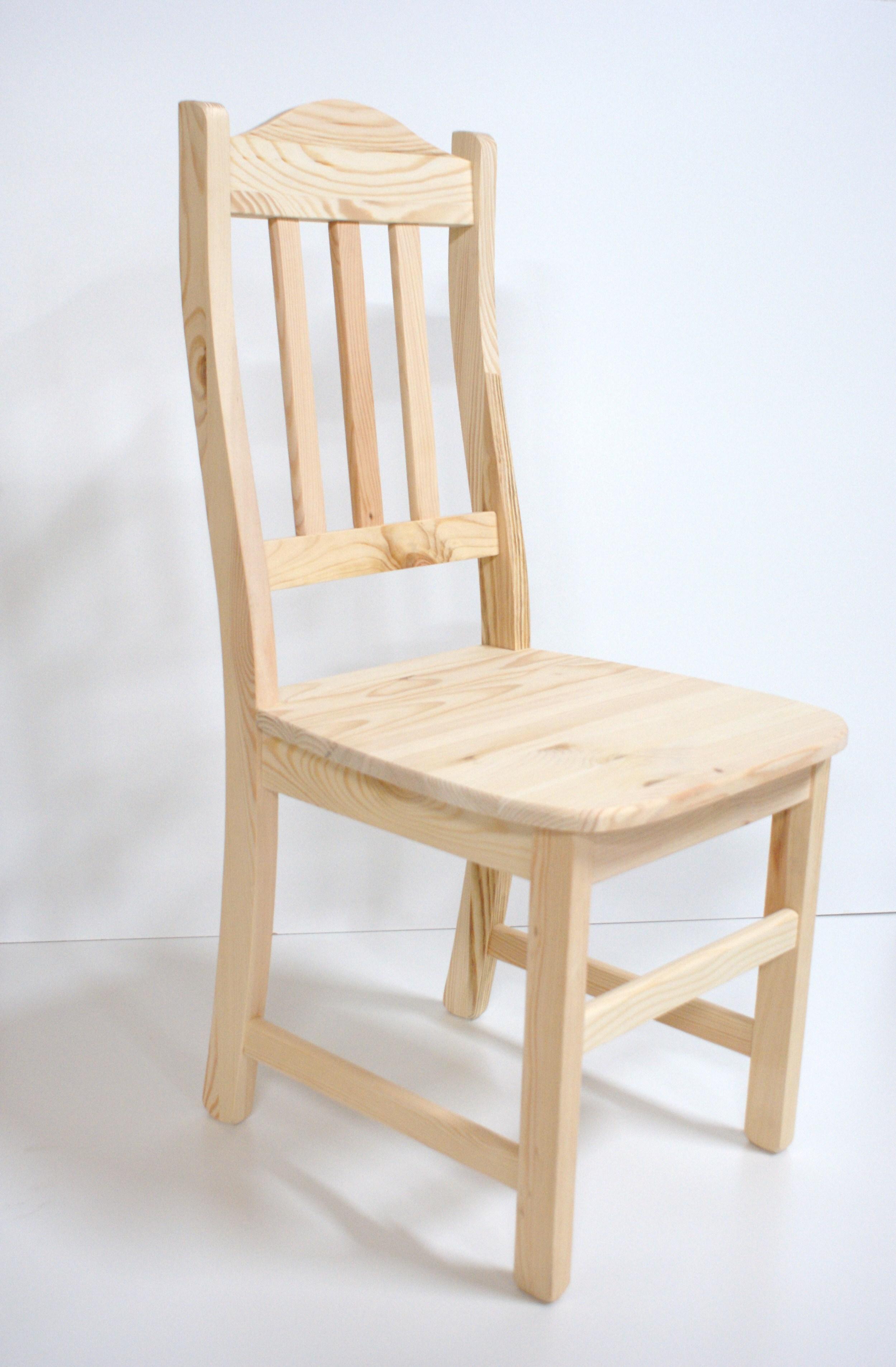 Blank houten eetkamerstoel Groningen   Houten stoelen   Grenenhoeve