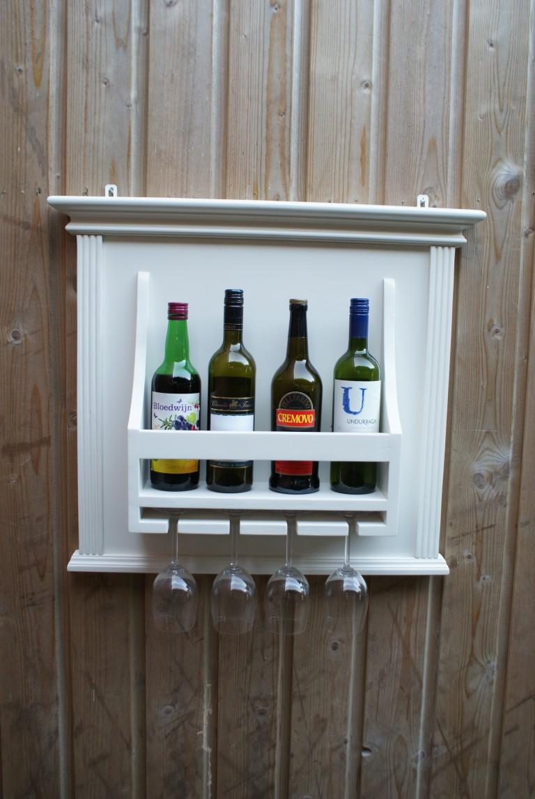 wit landelijk wijnrek
