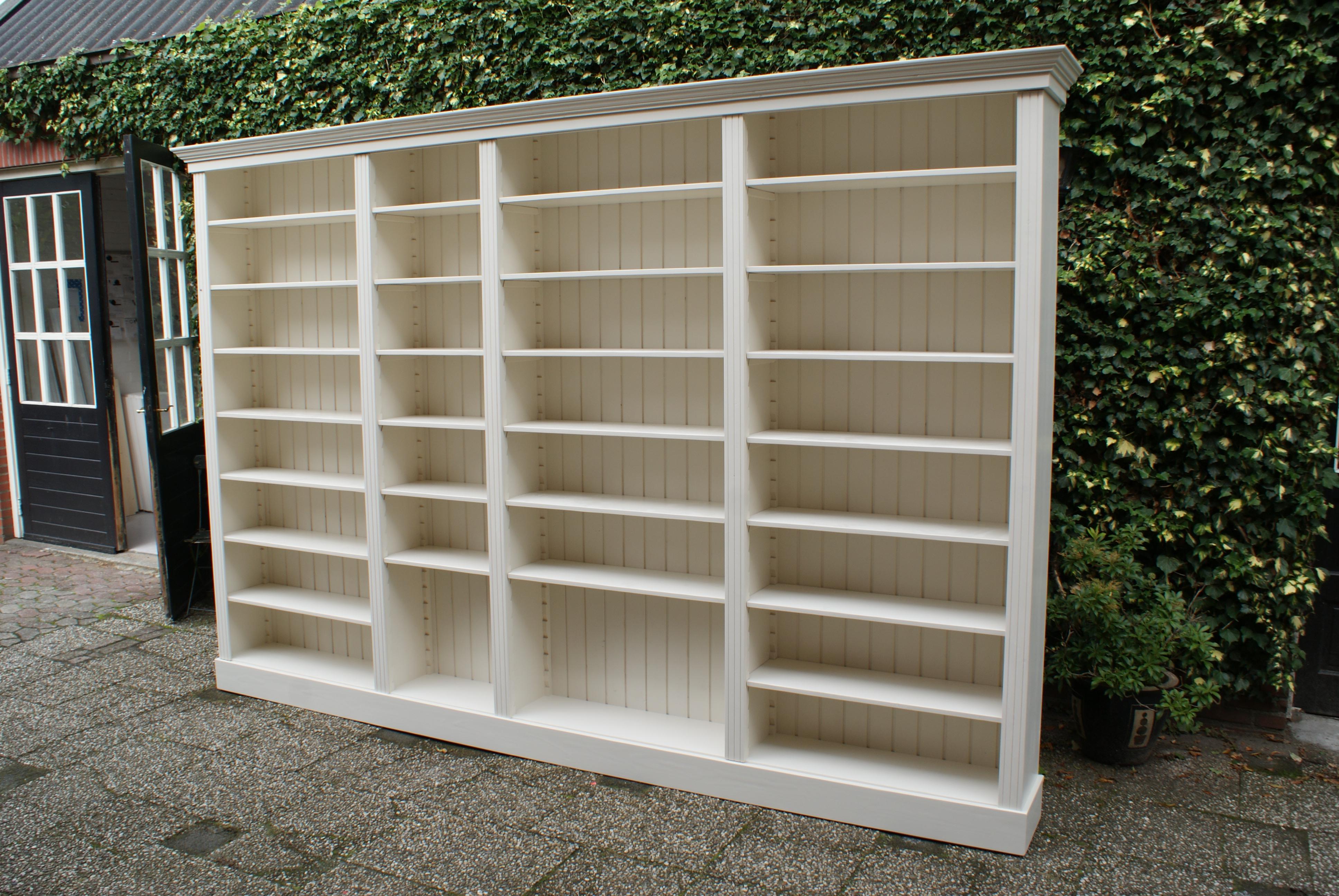 Boekenkast wit - Boekenkasten op maat gemaakt - de Grenenhoeve