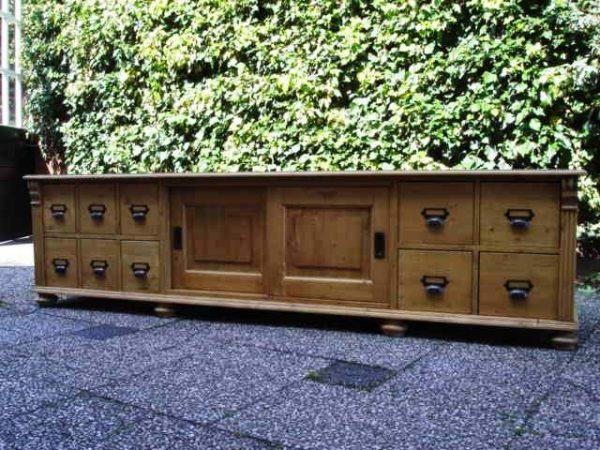 antiek grenen tv meubel