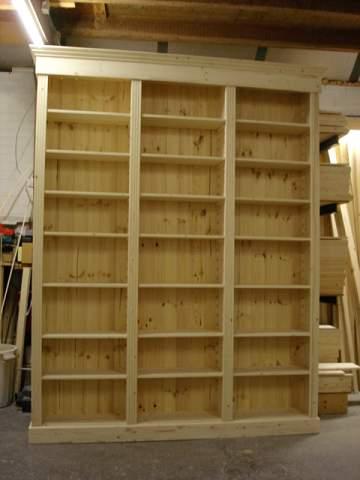 blank houten boekenkast Eindhoven - Meubelmakerij - de Grenenhoeve