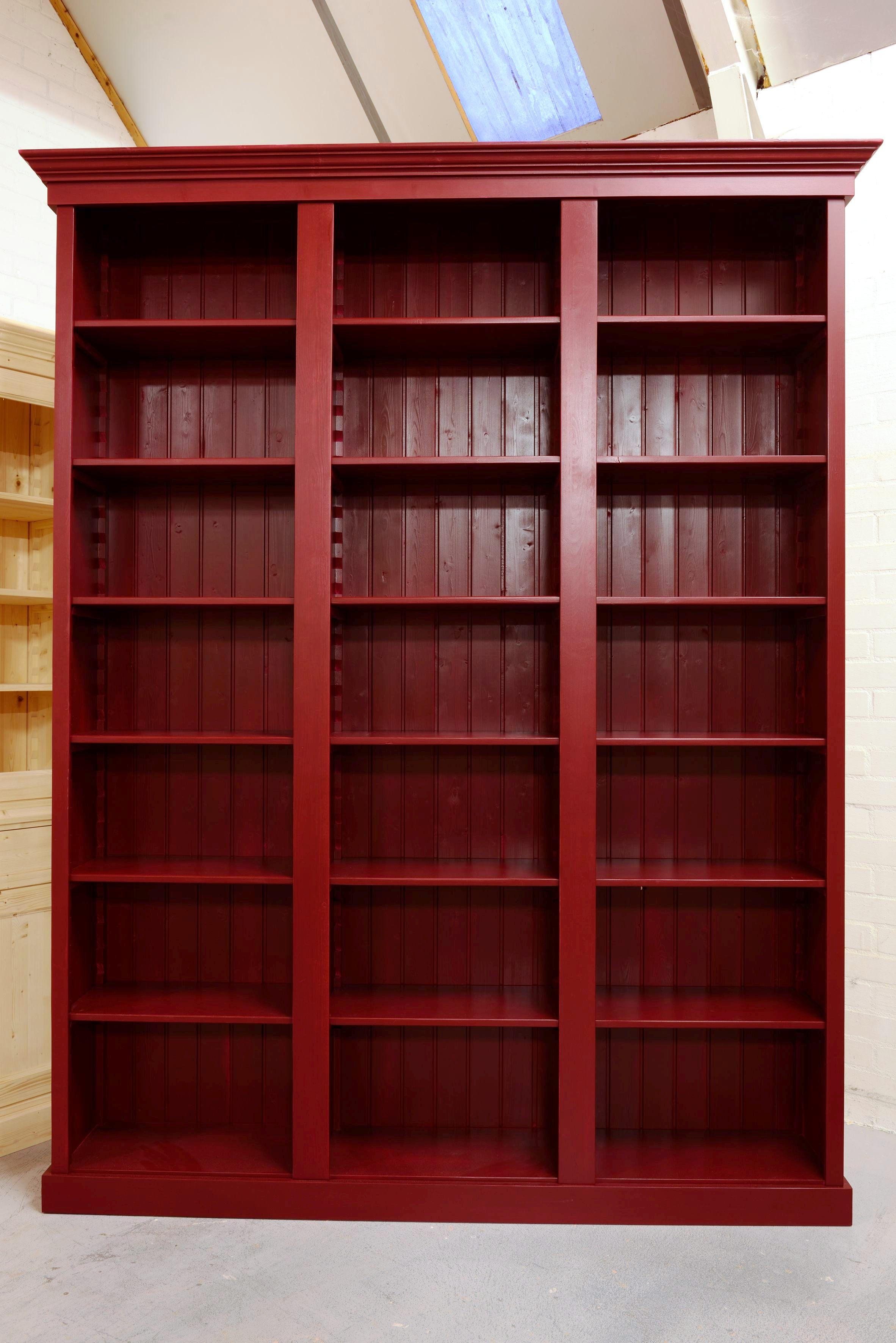 boekenkast rood