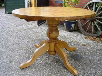 grenen kolompoot tafel