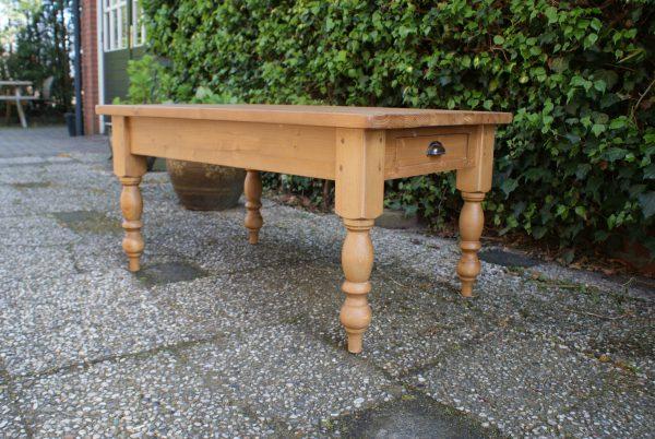 grenen salontafel met doorschuiflade