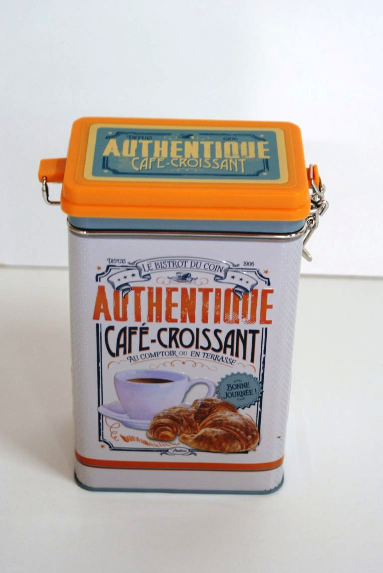 koffieblik in retro stijl