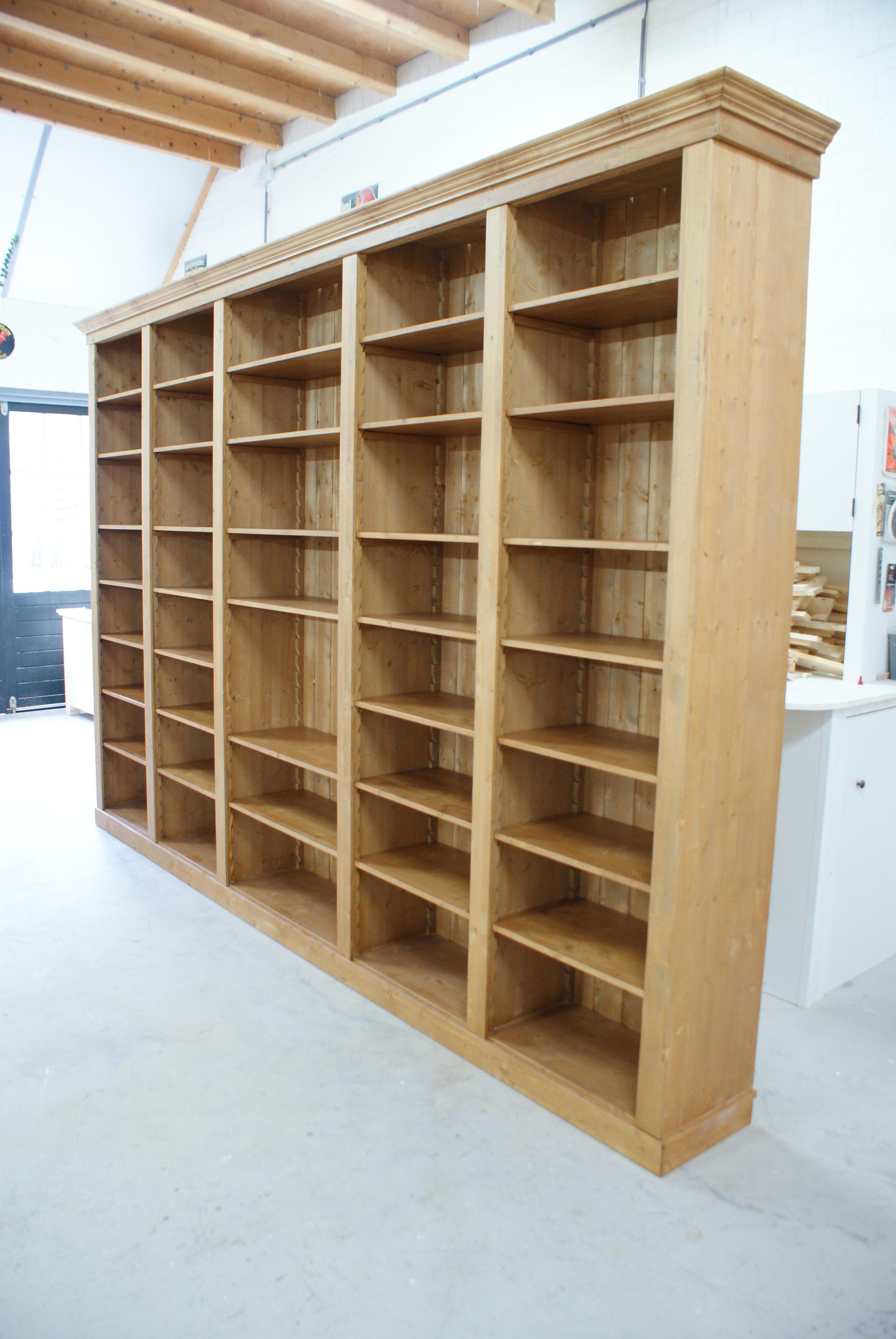 boekenkast op maat renswoude meubelmakerij de grenenhoeve. Black Bedroom Furniture Sets. Home Design Ideas