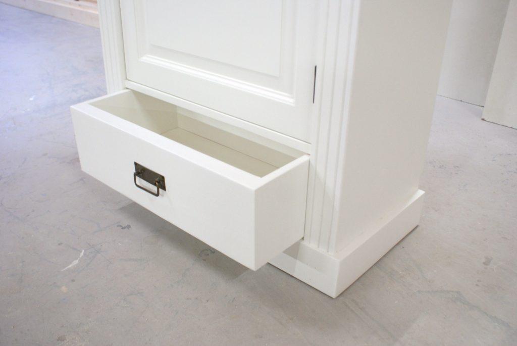 1 Deurs Kast : Witte 1 deurs kast lade meubelmakerij de grenenhoeve