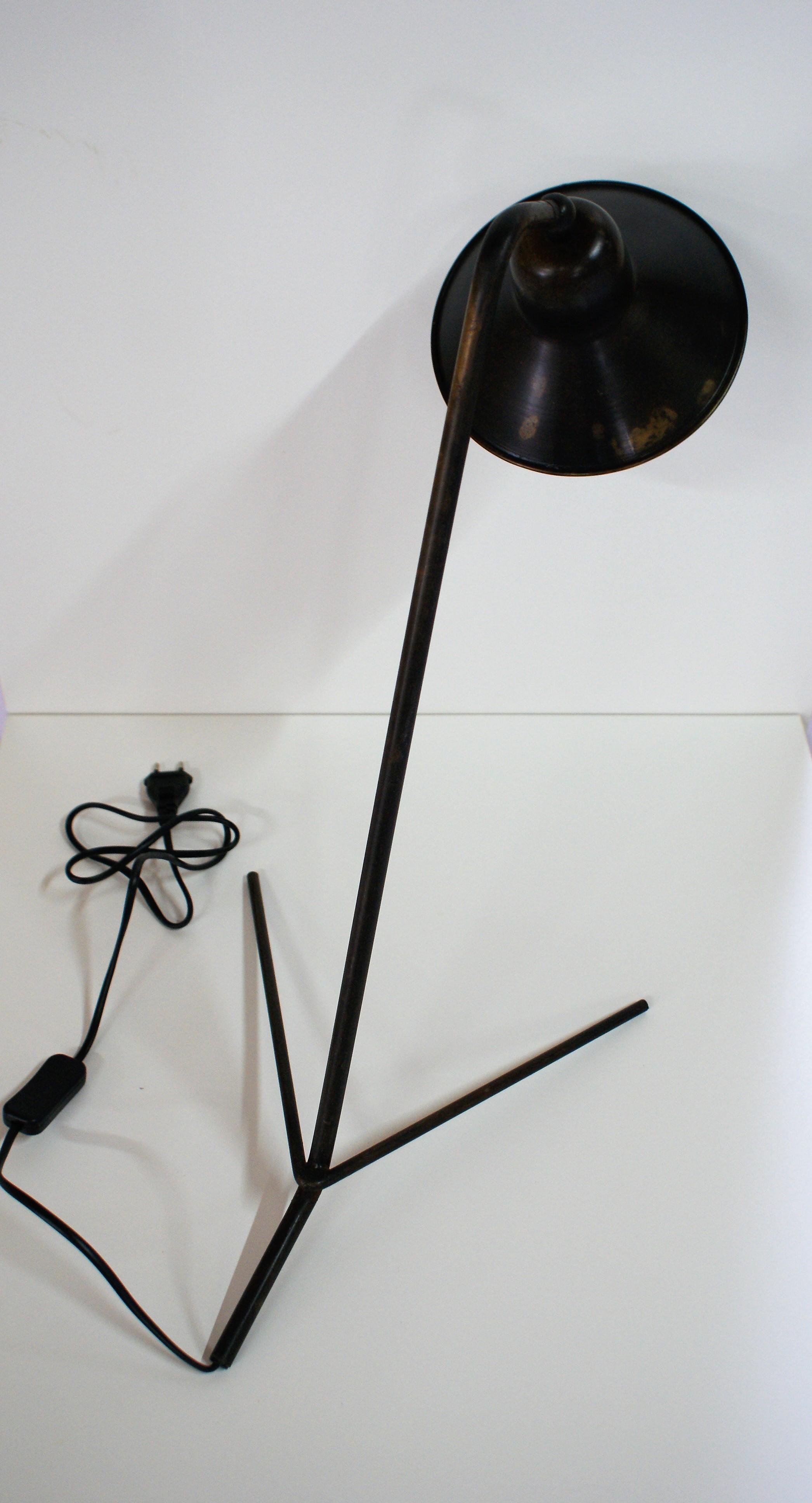 Industri le bureaulamp zwart online te koop bij de for Industriele bureaulamp