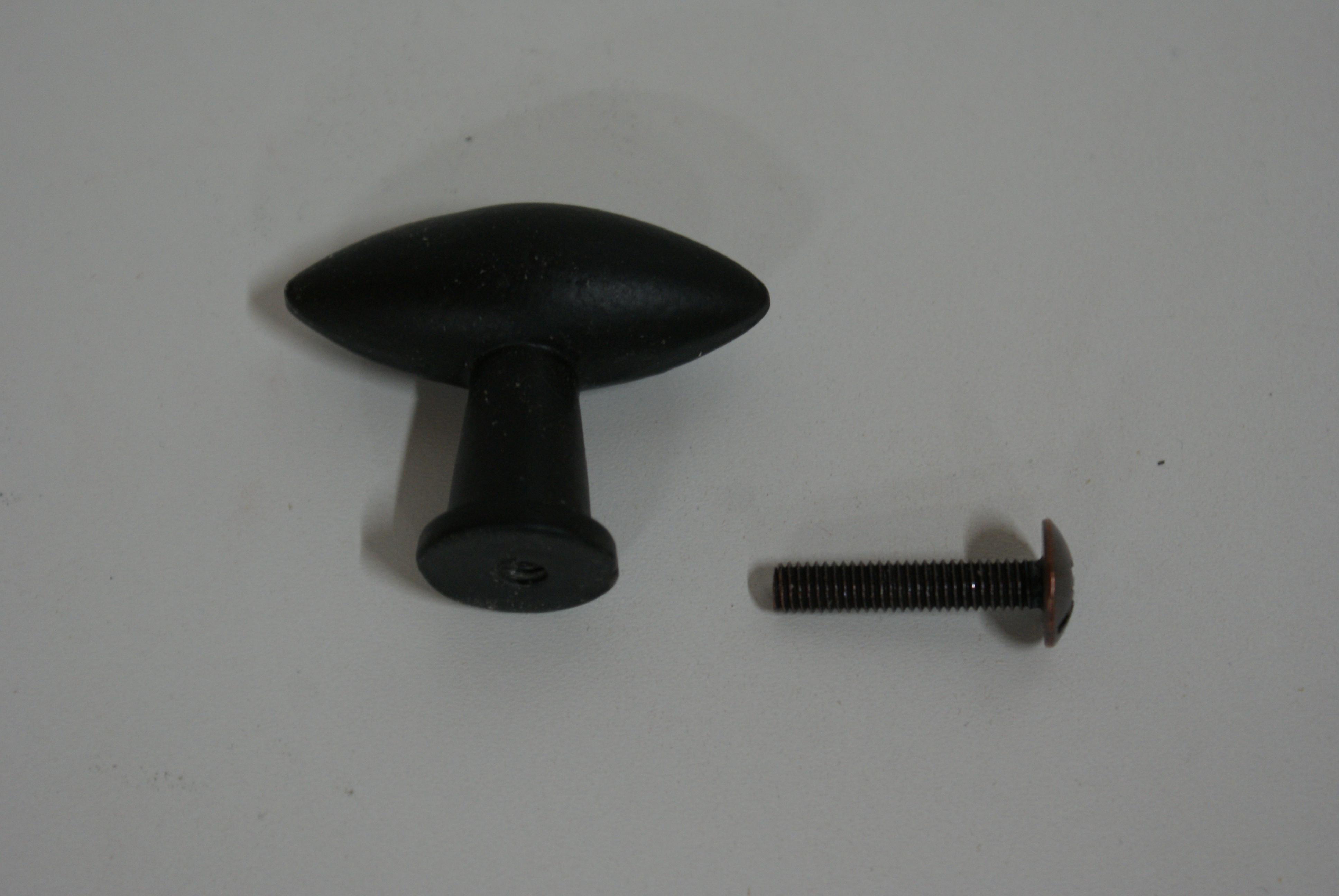 Kastknop Zwart