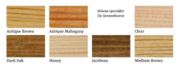 Briwax kleuren