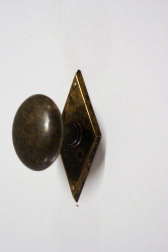 ronde knop oud messing